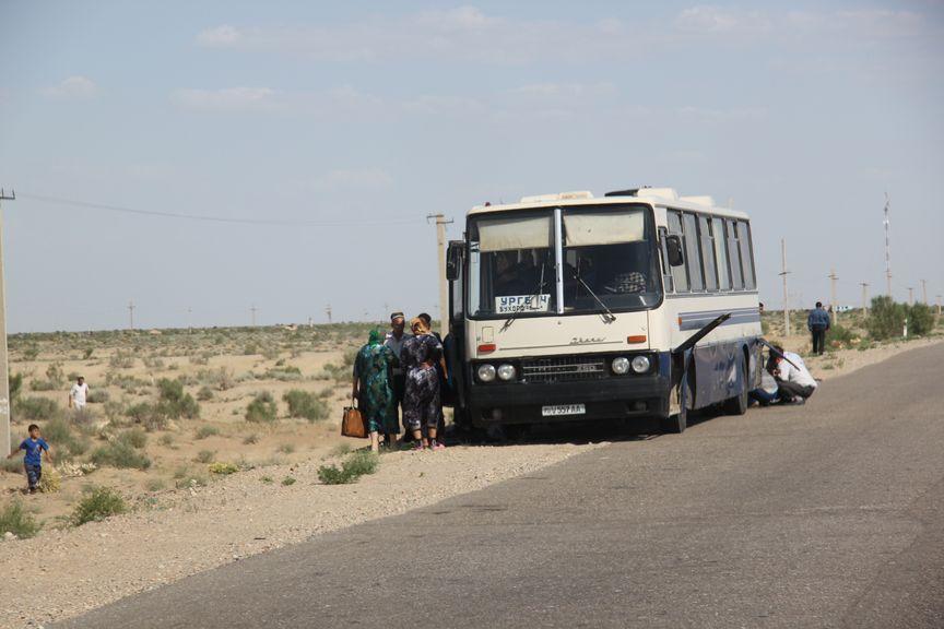 Route pour Boukhara.